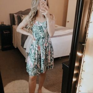Old Navy Tropical Palm Tree Swing Dress